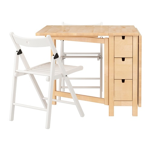 ikea norden terje table and 2 chairs solid wood is a hardwearing