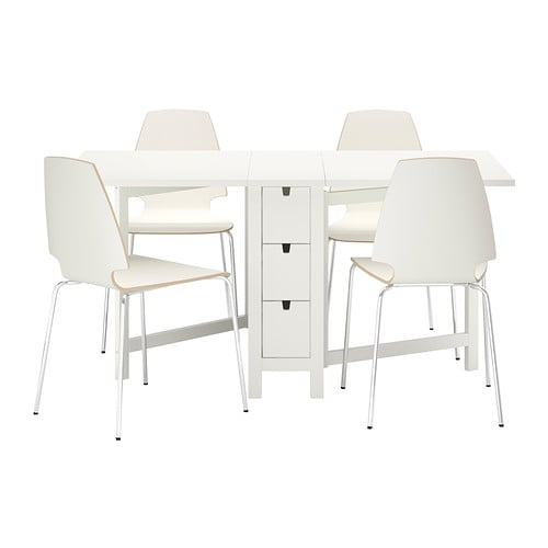 IKEA NORDEN/VILMAR table and 4 chairs