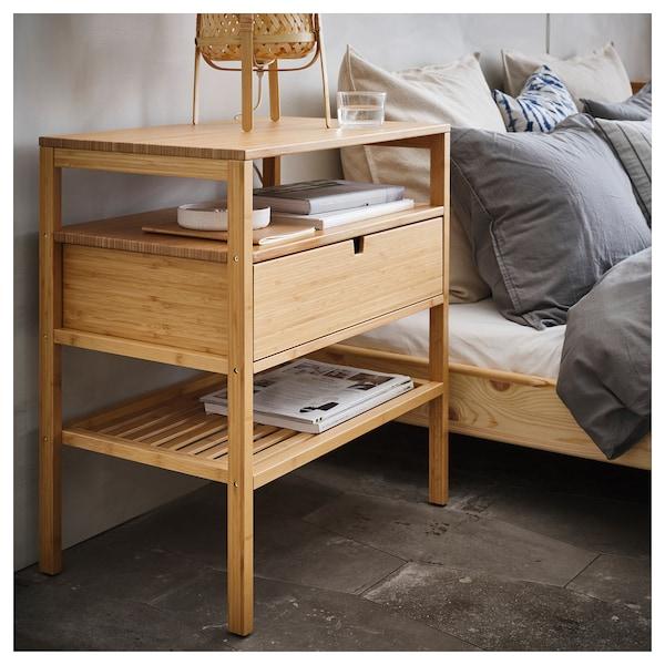 NORDKISA bedside table bamboo 60 cm 40 cm 68 cm