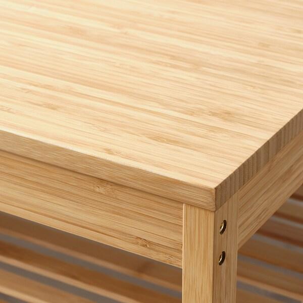 NORDKISA bench bamboo 80 cm 47 cm 53 cm