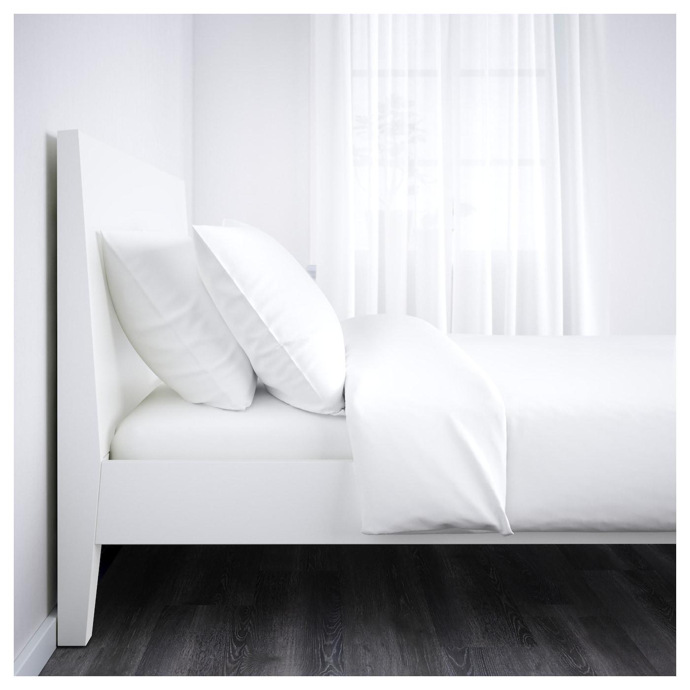 nordli bed frame white leirsund 140x200 cm ikea. Black Bedroom Furniture Sets. Home Design Ideas