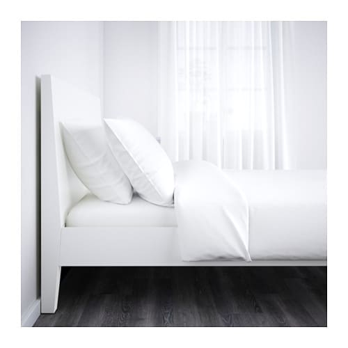 IKEA NORDLI bed frame Adjustable bed sides allow you to use mattresses of different thicknesses.