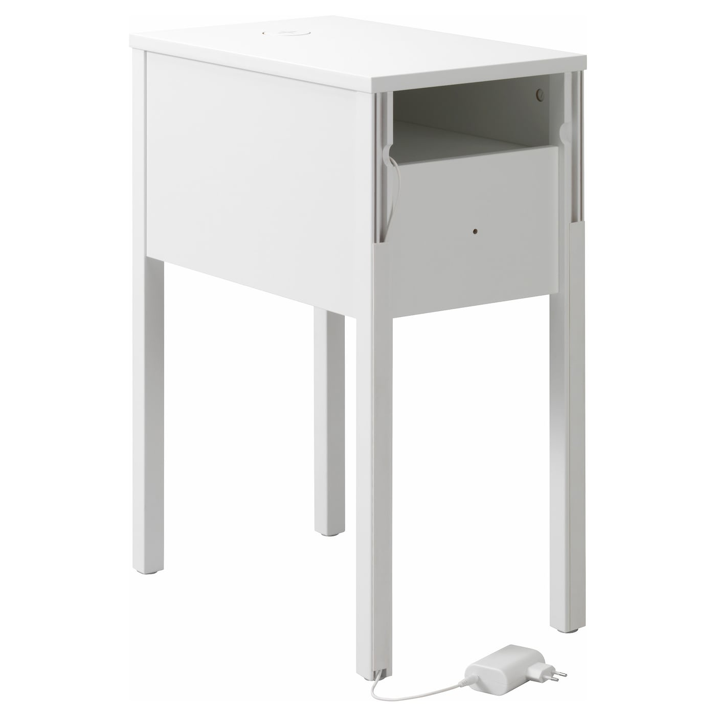 nordli bedside table w wireless charging white 30x50 cm ikea