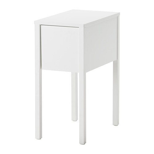 Nordli bedside table white 30x50 cm ikea for Mini table de chevet