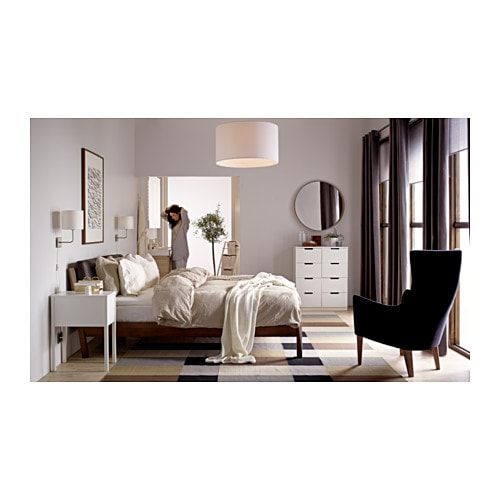 Ikea trysil bedside table white for Table pour cuisine ikea