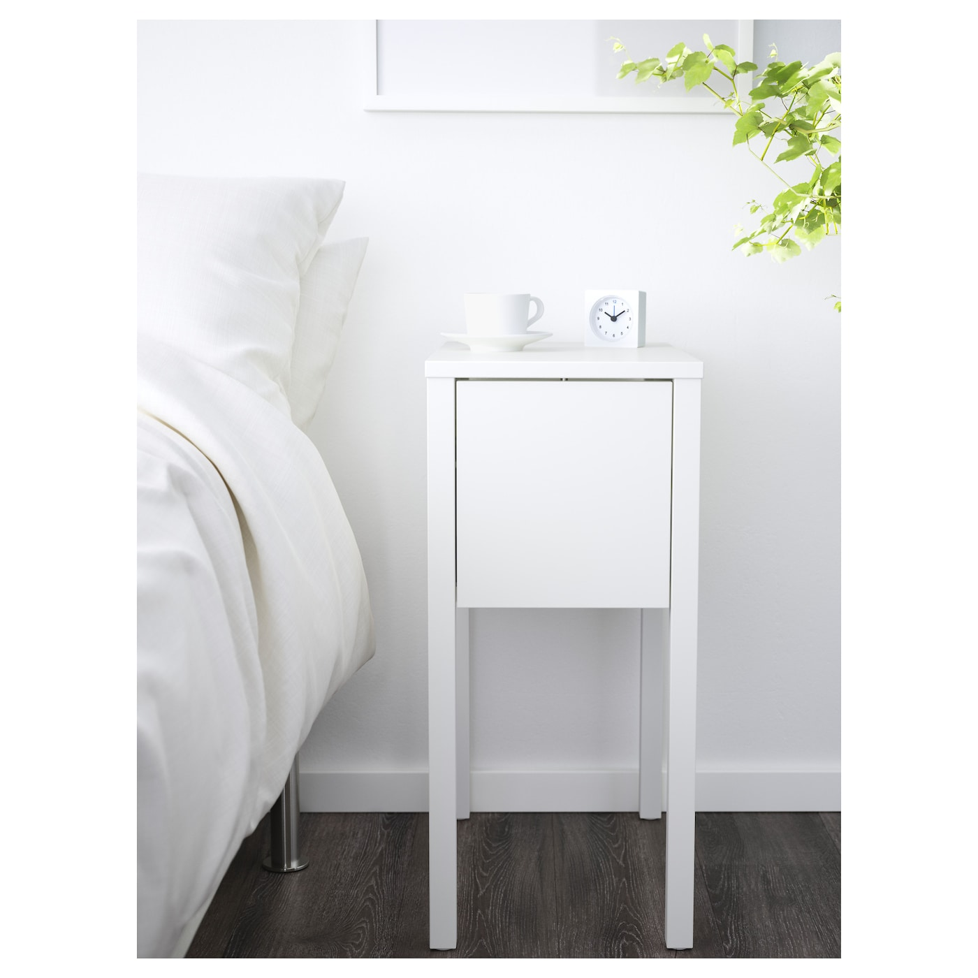 ikea nordli bedside table on the hidden shelf is room for an extension