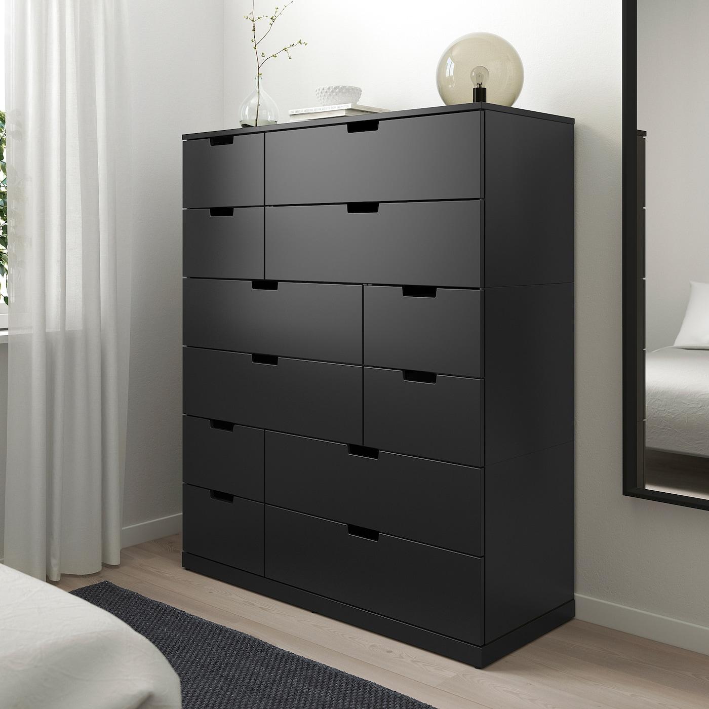 NORDLI Chest of 12 drawers anthracite 120x145 cm