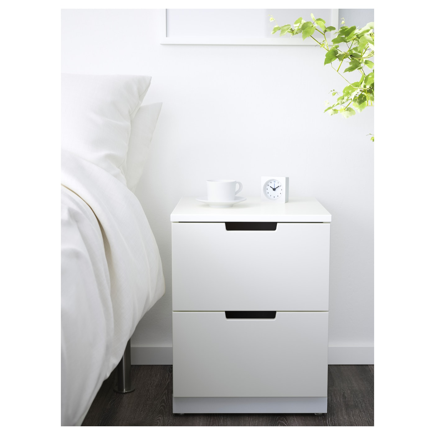 NORDLI Chest Of Drawers White X Cm IKEA - White bedside table ikea