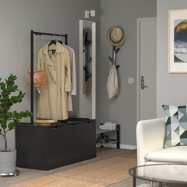 NORDLI Chest of 3 drawers, anthracite, 120x169 cm
