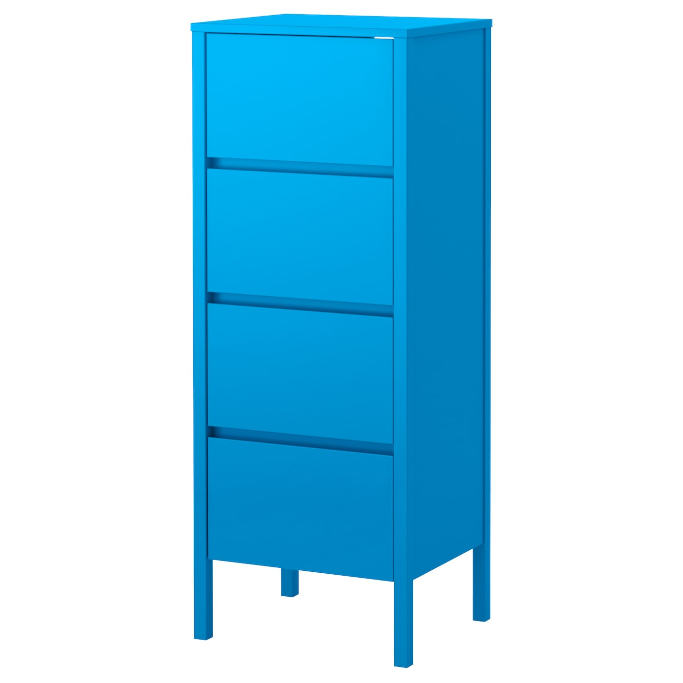 Nordli chest of 4 drawers blue 48x125 cm ikea for Kommode 4 schubladen