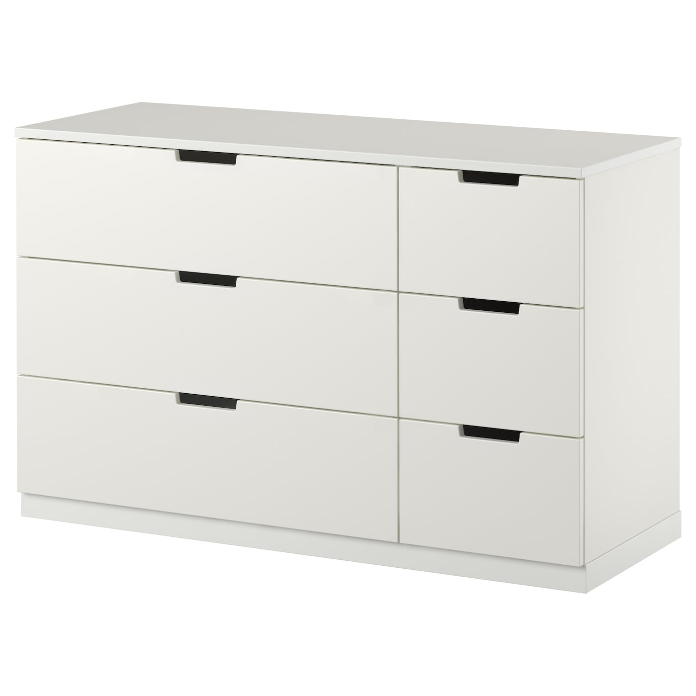 Nordli chest of 6 drawers white 120x75 cm ikea for Kommode 100 x 60