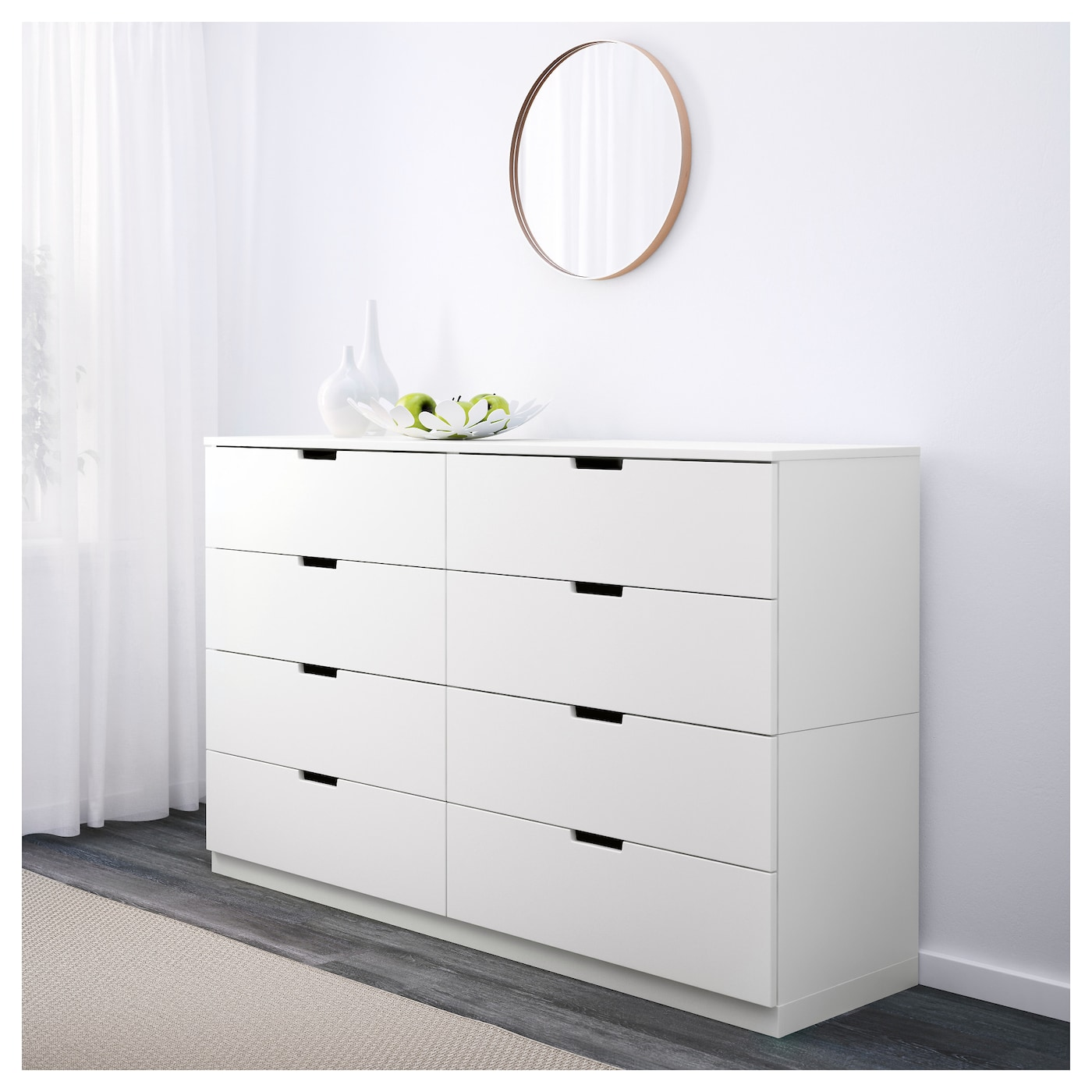 IKEA NORDLI chest of 8 drawers. NORDLI Chest of 8 drawers White 160x97 cm   IKEA