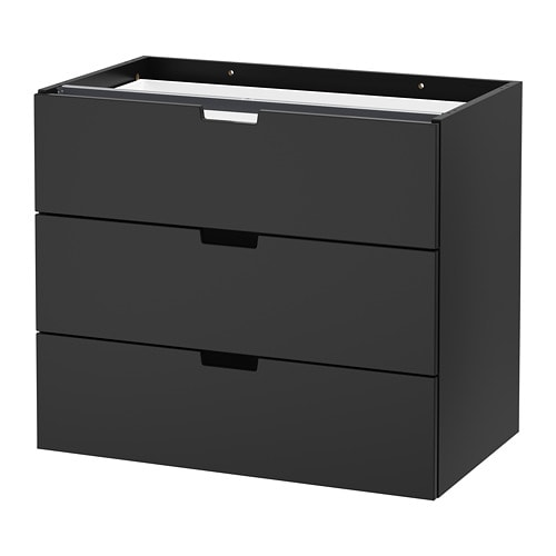 Ikea Nordli Modular Chest Of 3 Drawers