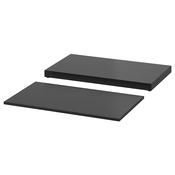 NORDLI Top and plinth, anthracite, 80x47 cm
