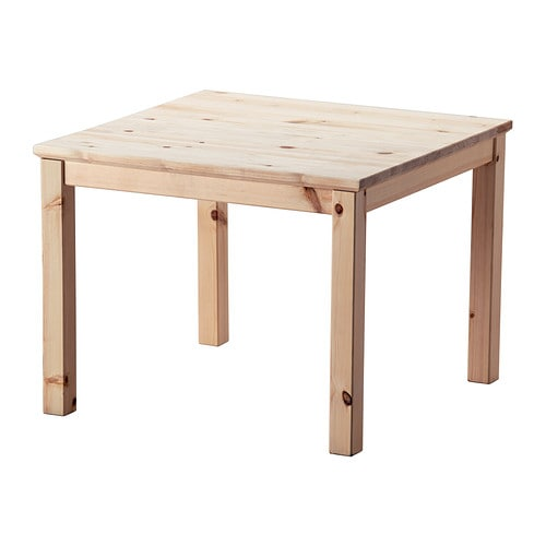 Norn s coffee table pine 59x59 cm ikea for Pine desk ikea