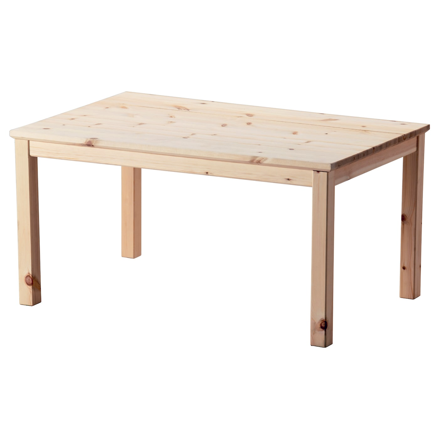 Norn s coffee table pine 89x59 cm ikea for Pine desk ikea