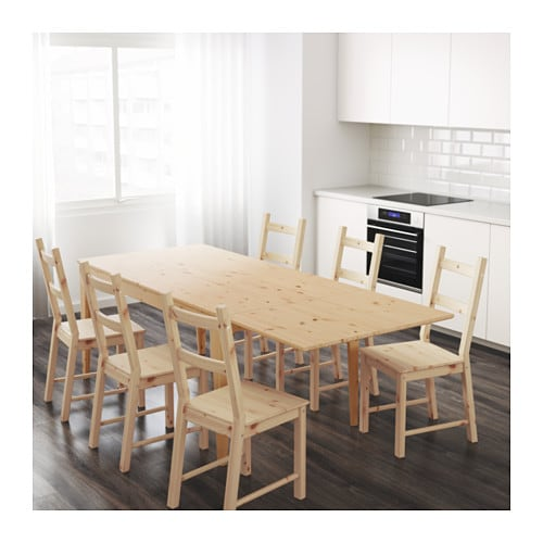 Ikea Kinderzimmer Drehstuhl ~ NORNÄS Drop leaf table Pine 161 221×88 cm  IKEA