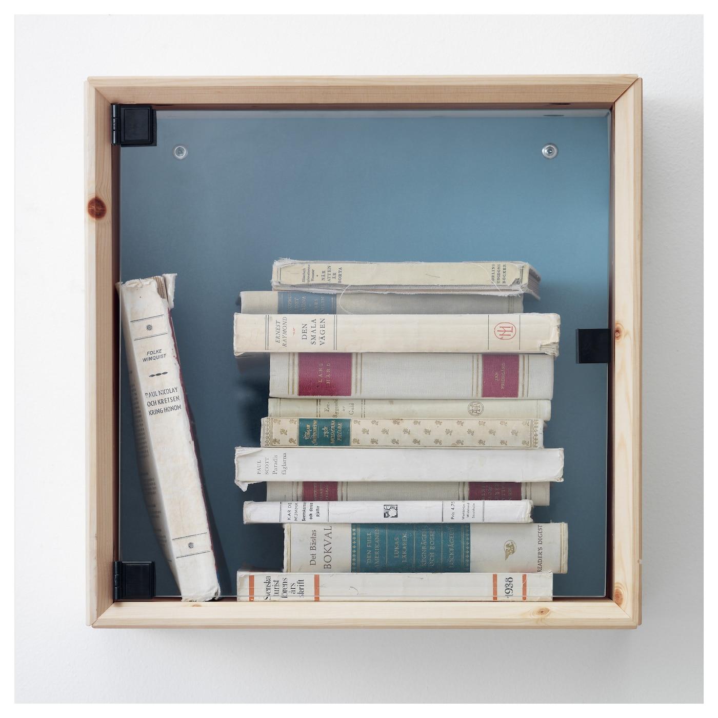 Ikea Pax Schrank Gebraucht Kaufen ~ NORNÄS Glass door wall cabinet Pine grey blue 37×37 cm  IKEA