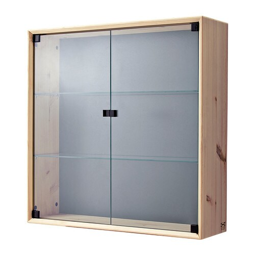 IKEA NORNÄS glass-door wall cabinet