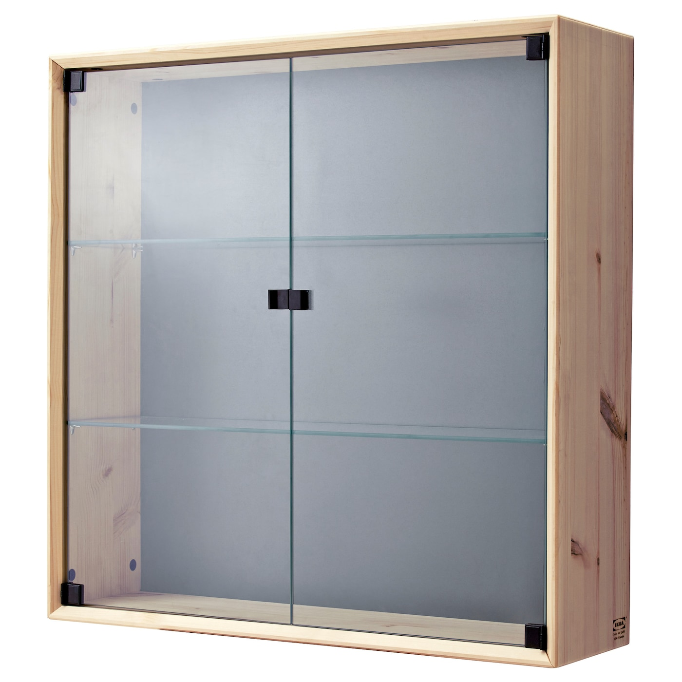 Norn s glass door wall cabinet pine 70x70 cm ikea - Vitrina cristal ikea ...