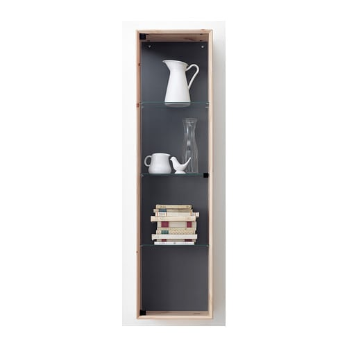 norn s glass door wall cabinet pine 37x143 cm ikea. Black Bedroom Furniture Sets. Home Design Ideas