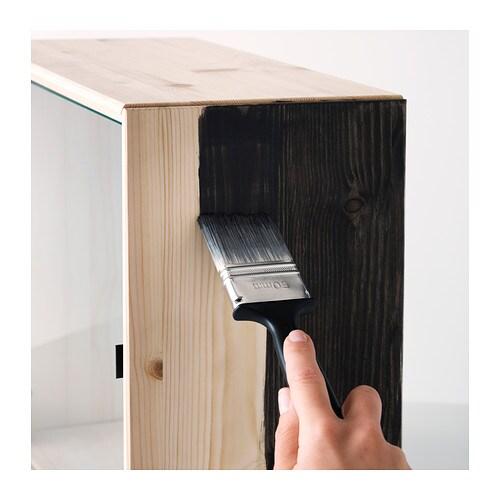 Ikea Kitchen Island With Drawers ~ NORNÄS Glass door wall cabinet Pine 70×70 cm  IKEA