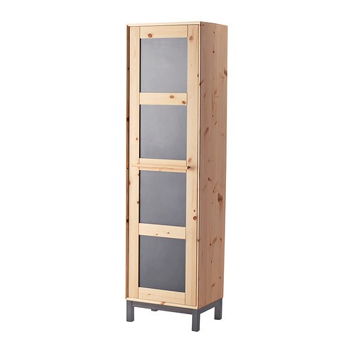 IKEA NORNÄS wardrobe Made of solid wood, which is a hardwearing and warm natural material.