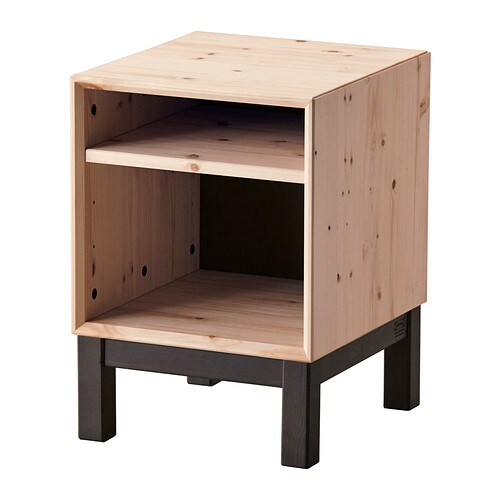 NORNÄS Bedside table IKEA Customise the space with the adjustable shelf.  Made of solid wood, which is a hardwearing and warm natural material.