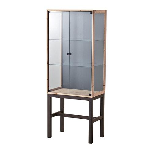 Ikea Pax Schrank Gebraucht Kaufen ~ NORNÄS Glass door cabinet with 2 doors IKEA