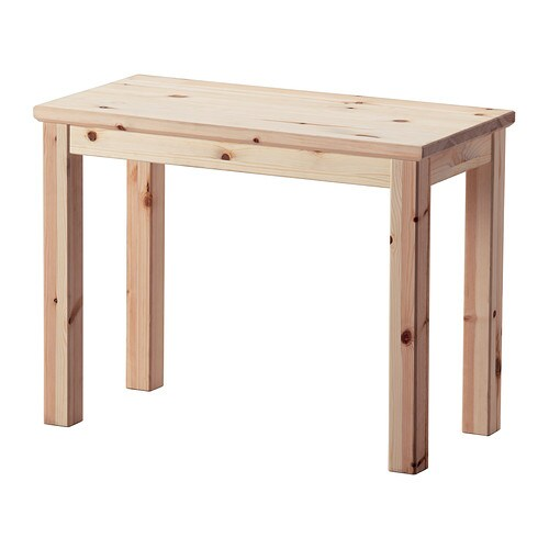 NORNÄS Side table IKEA Untreated solid pine is a durable natural material that can be painted, oiled or stained according to preference.