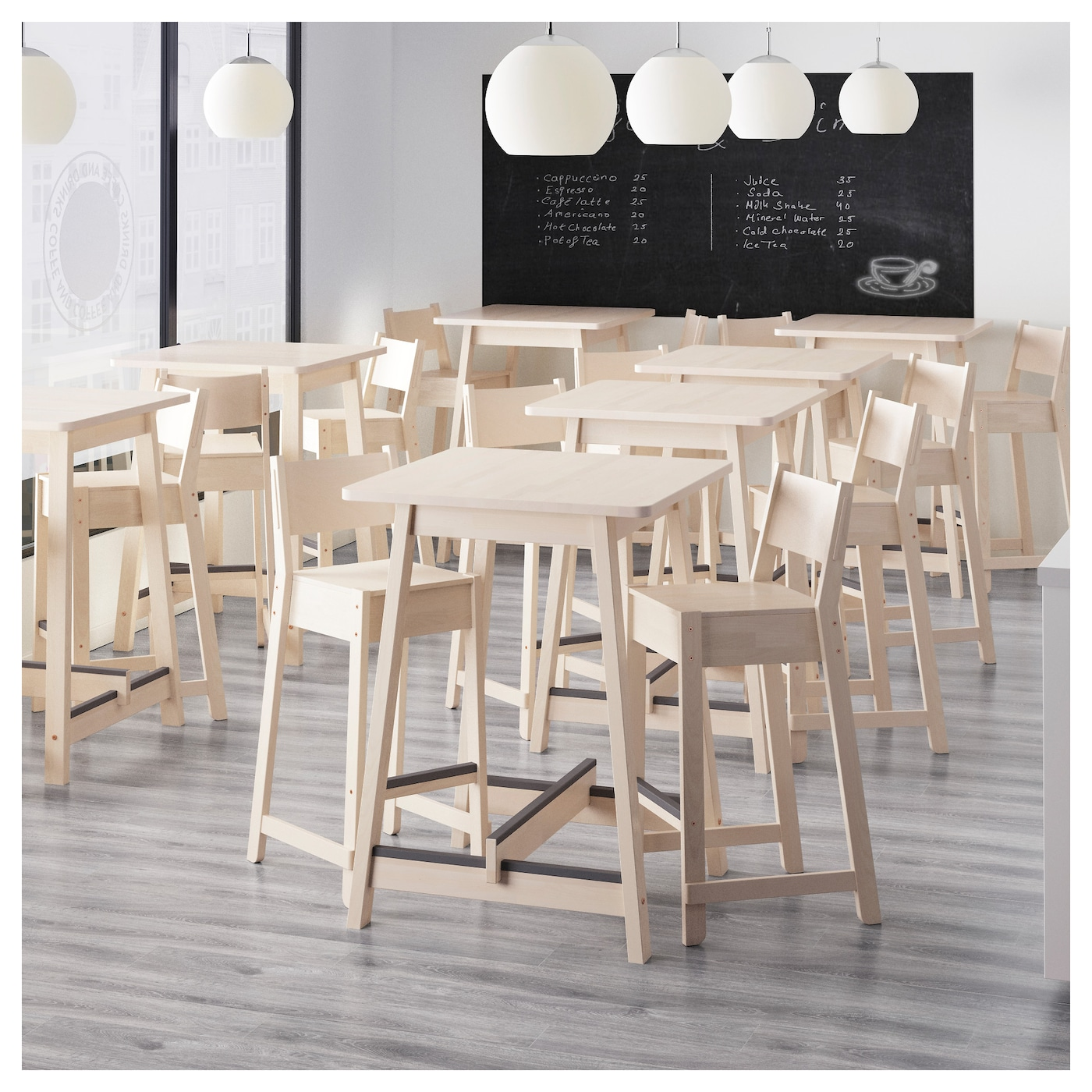 norr ker bar table white birch 74x74 cm ikea. Black Bedroom Furniture Sets. Home Design Ideas