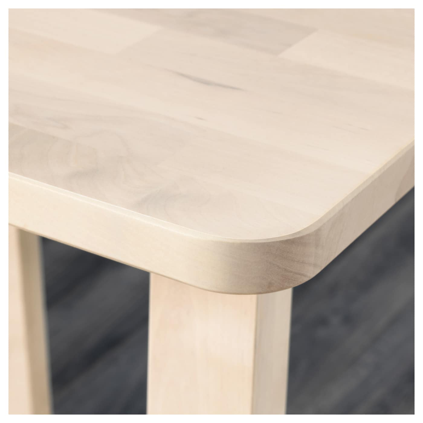 IKEA NORRÅKER bar table Less risk of children hitting their head as the table has rounded corners.
