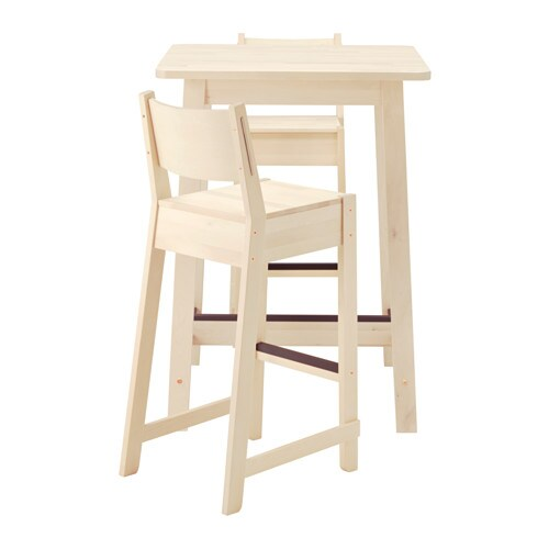 Norr ker norr ker bar table and 2 bar stools white birch for Table bar 85 cm