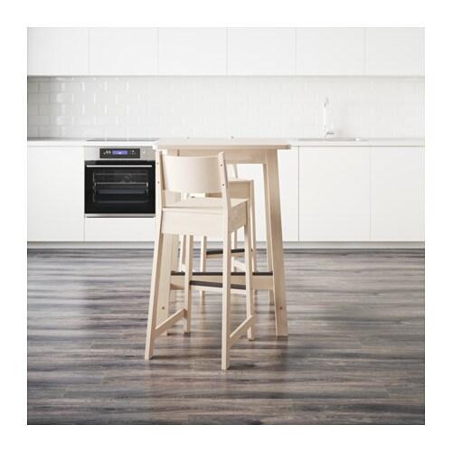 Bar table and 2 bar stools NORRÅKER/ NORRÅKER White birch/white ...