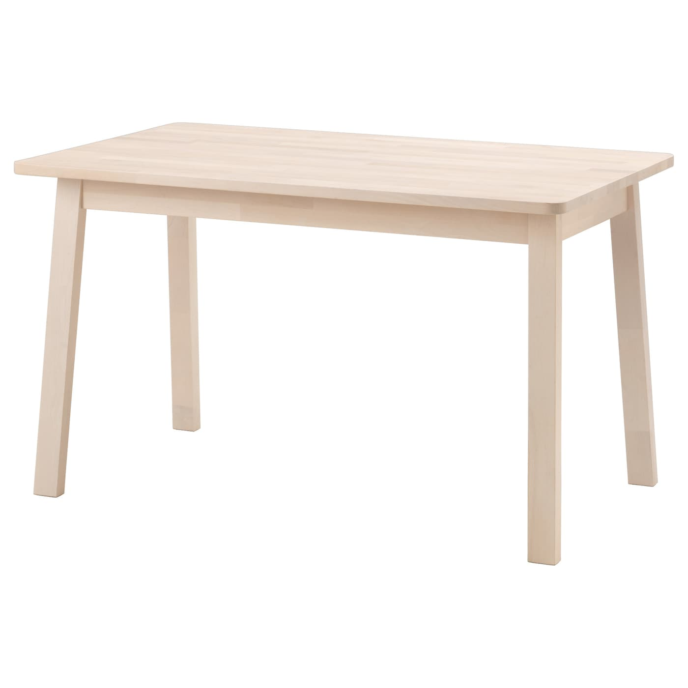 norr ker table white birch 125x74 cm ikea