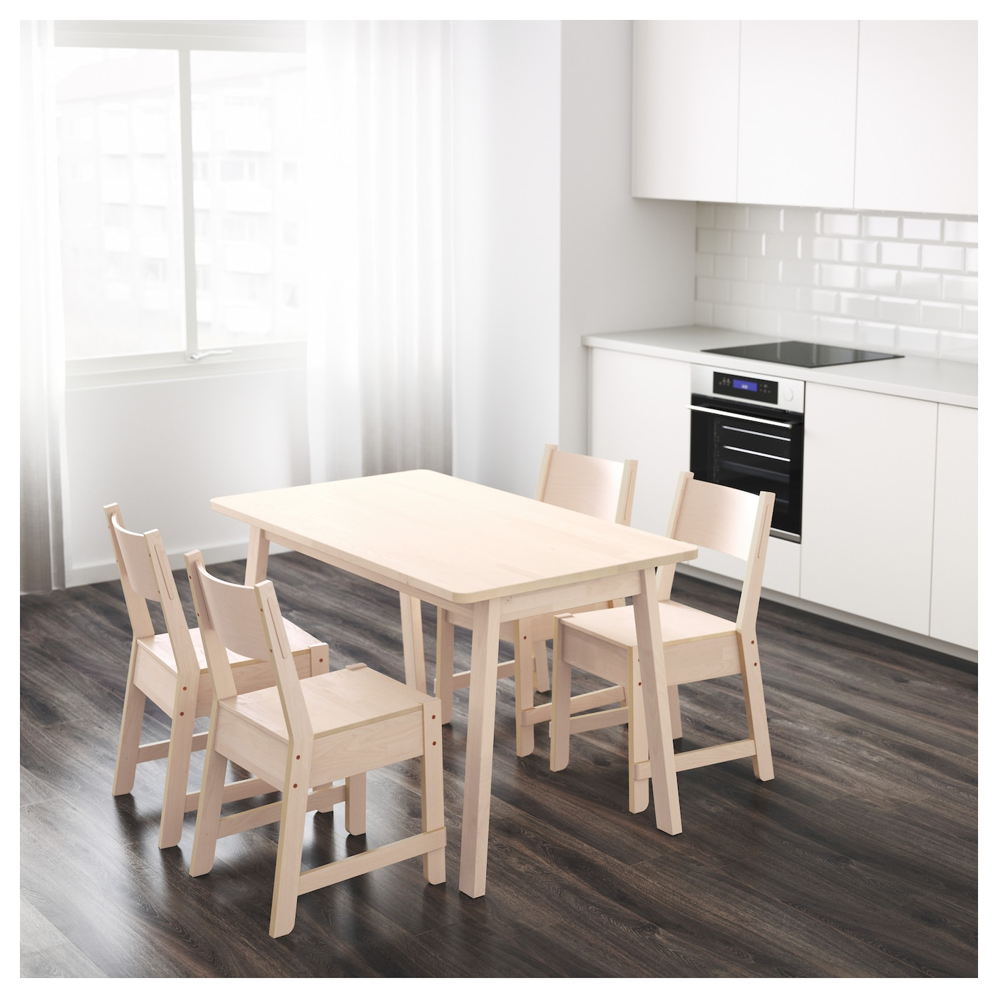 NORR…KER Table White birch 125x74 cm IKEA