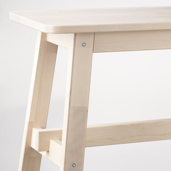 NORRÅKER Bench, birch, 103 cm