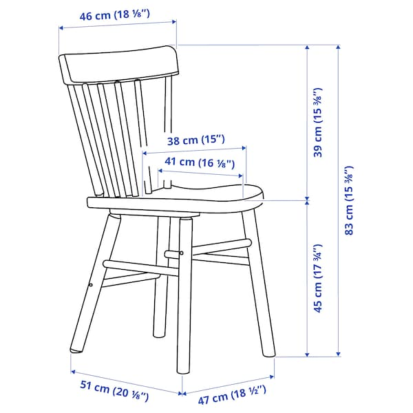 NORRÅKER / NORRARYD Table and 4 chairs, birch/white, 125x74 cm