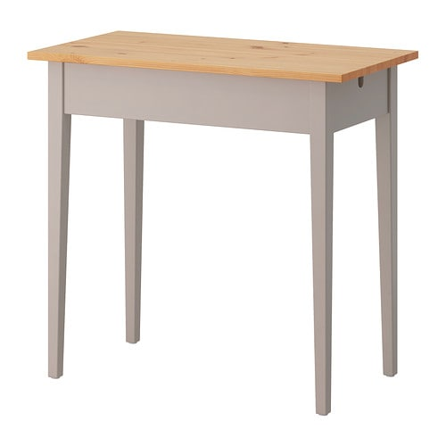 NORRÅSEN Laptop table IKEA Solid wood is a durable natural material.  Cable outlet for easy cable management.