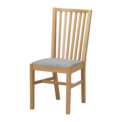 IKEA NORRNÄS chair Solid oak is a hardwearing natural material which gives a warm, natural feeling.