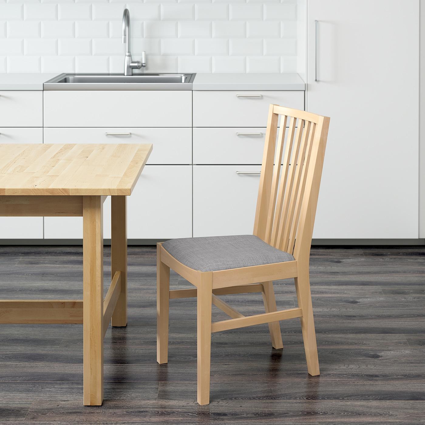NORRNÄS black, Isunda grey, Chair IKEA