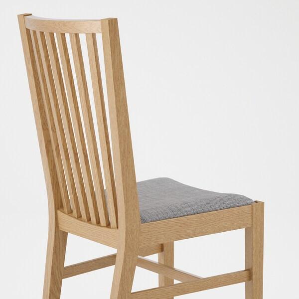 NORRNÄS Chair, oak/Isunda grey