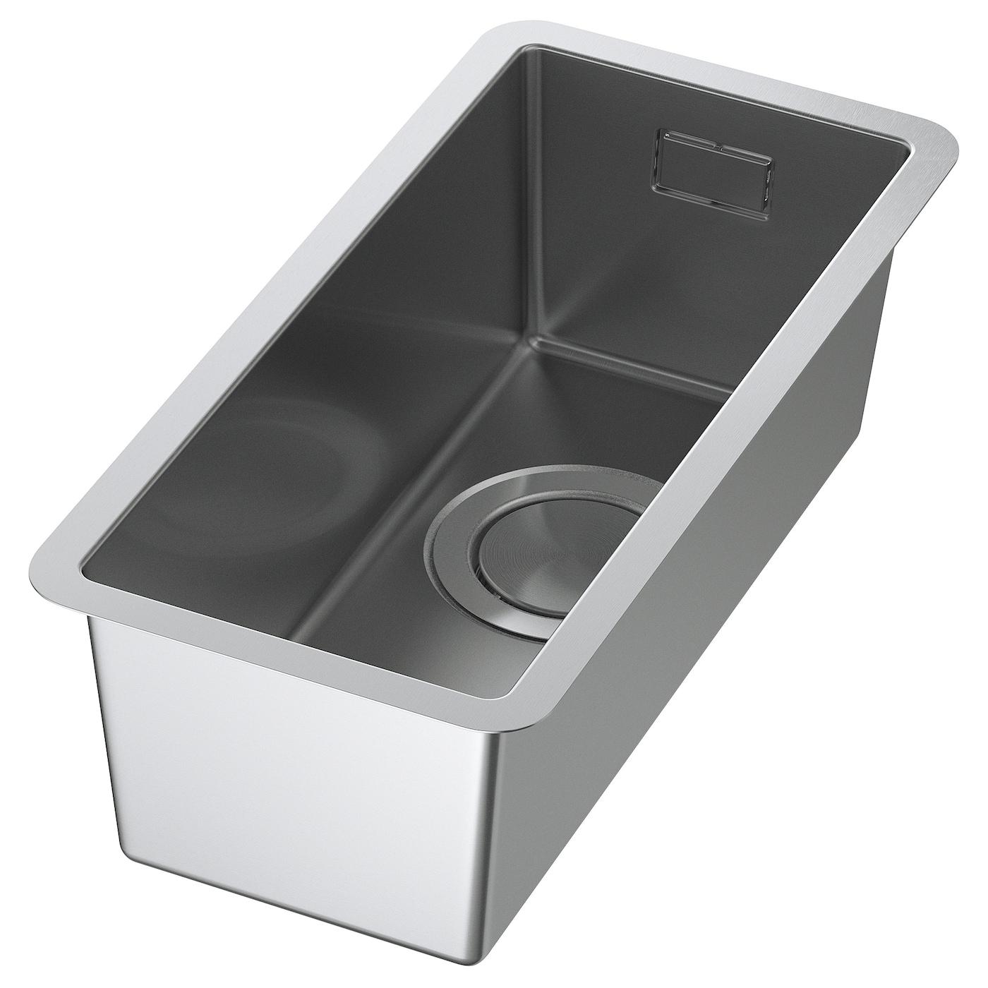 Kitchen sinks single double stainless steel sinks ikea for Evier inox ikea