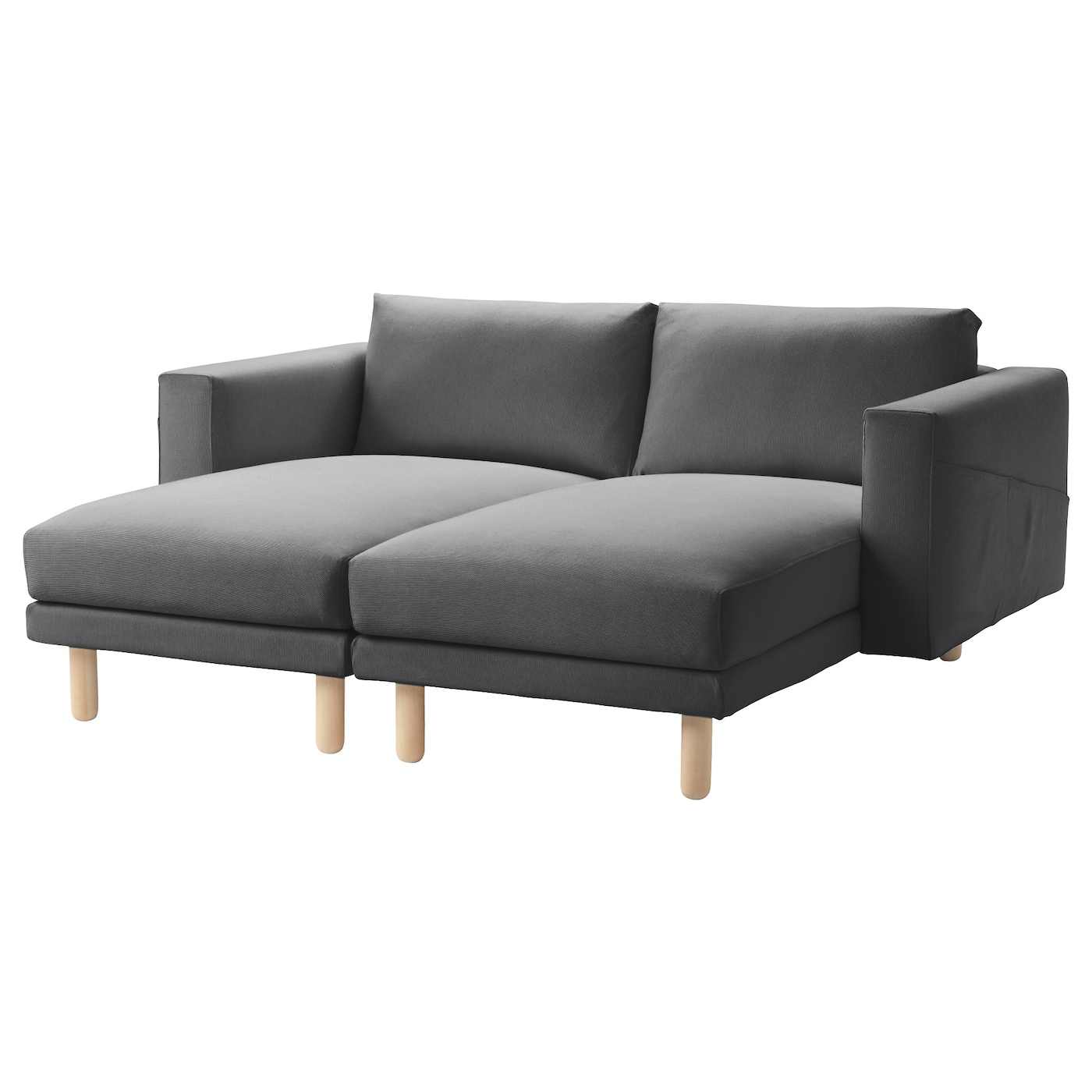 Norsborg 2 chaise longues finnsta dark grey birch ikea - Chaise empilable ikea ...