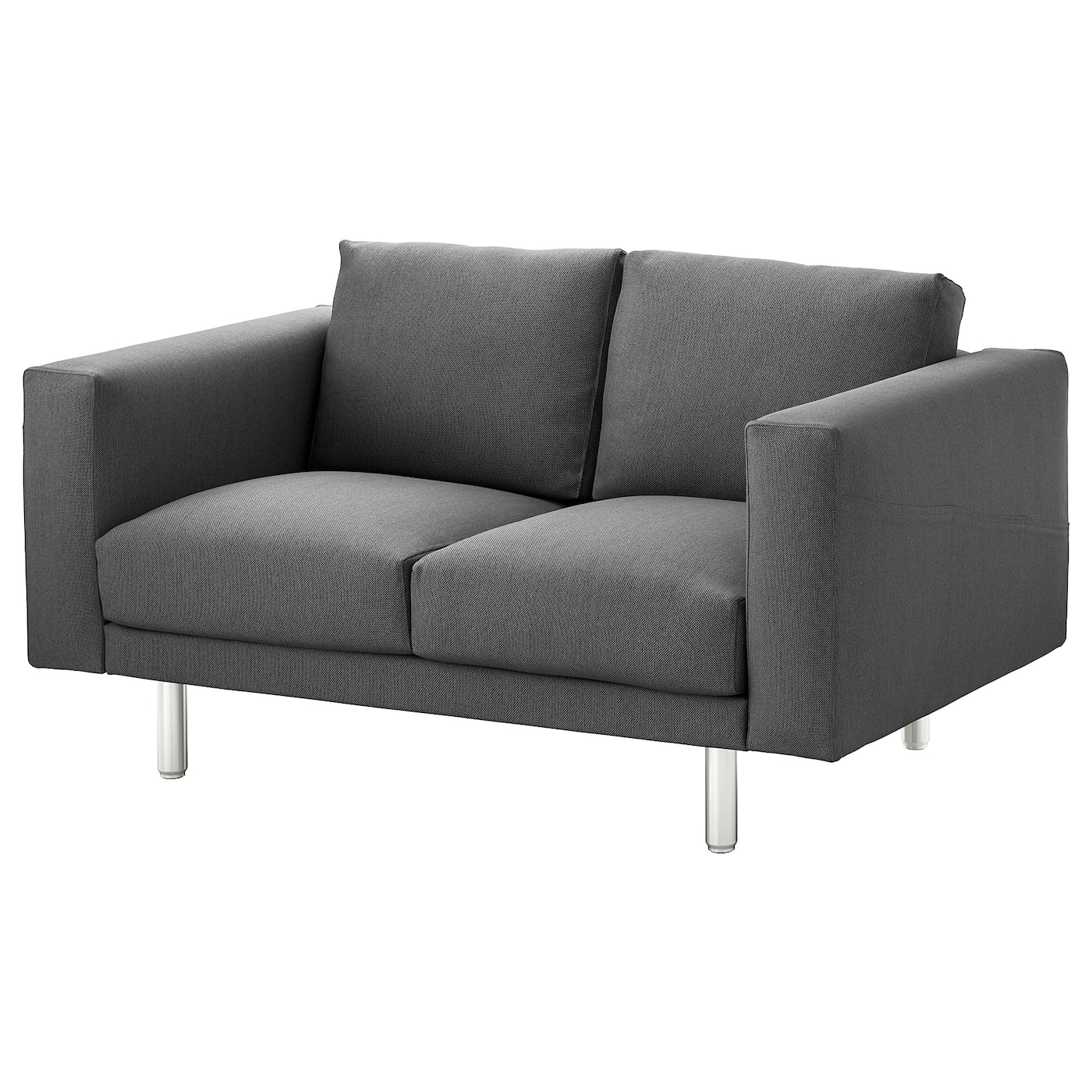 norsborg 2 seat sofa finnsta dark grey metal ikea. Black Bedroom Furniture Sets. Home Design Ideas