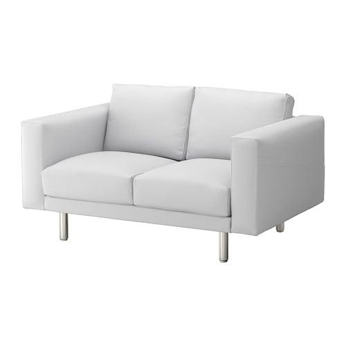 norsborg 2 seat sofa finnsta white metal pe s4