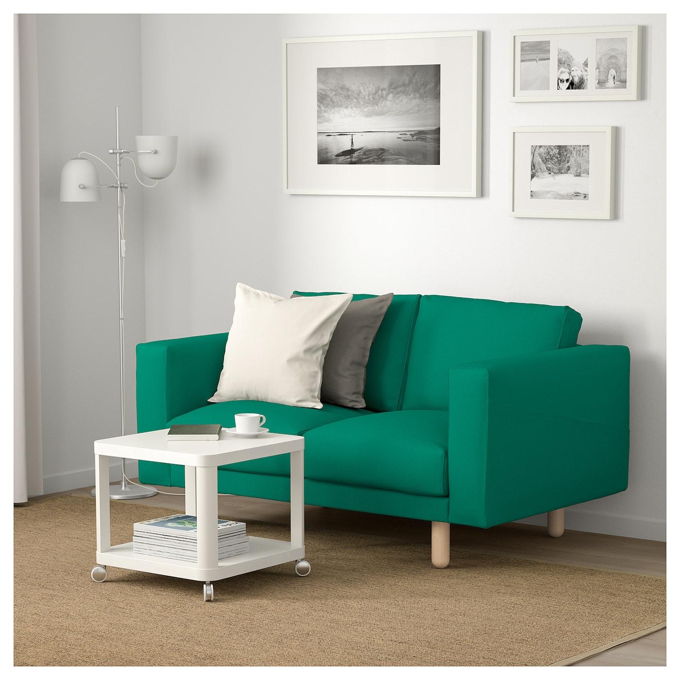 norsborg 2 seat sofa gr sbo bright green birch ikea