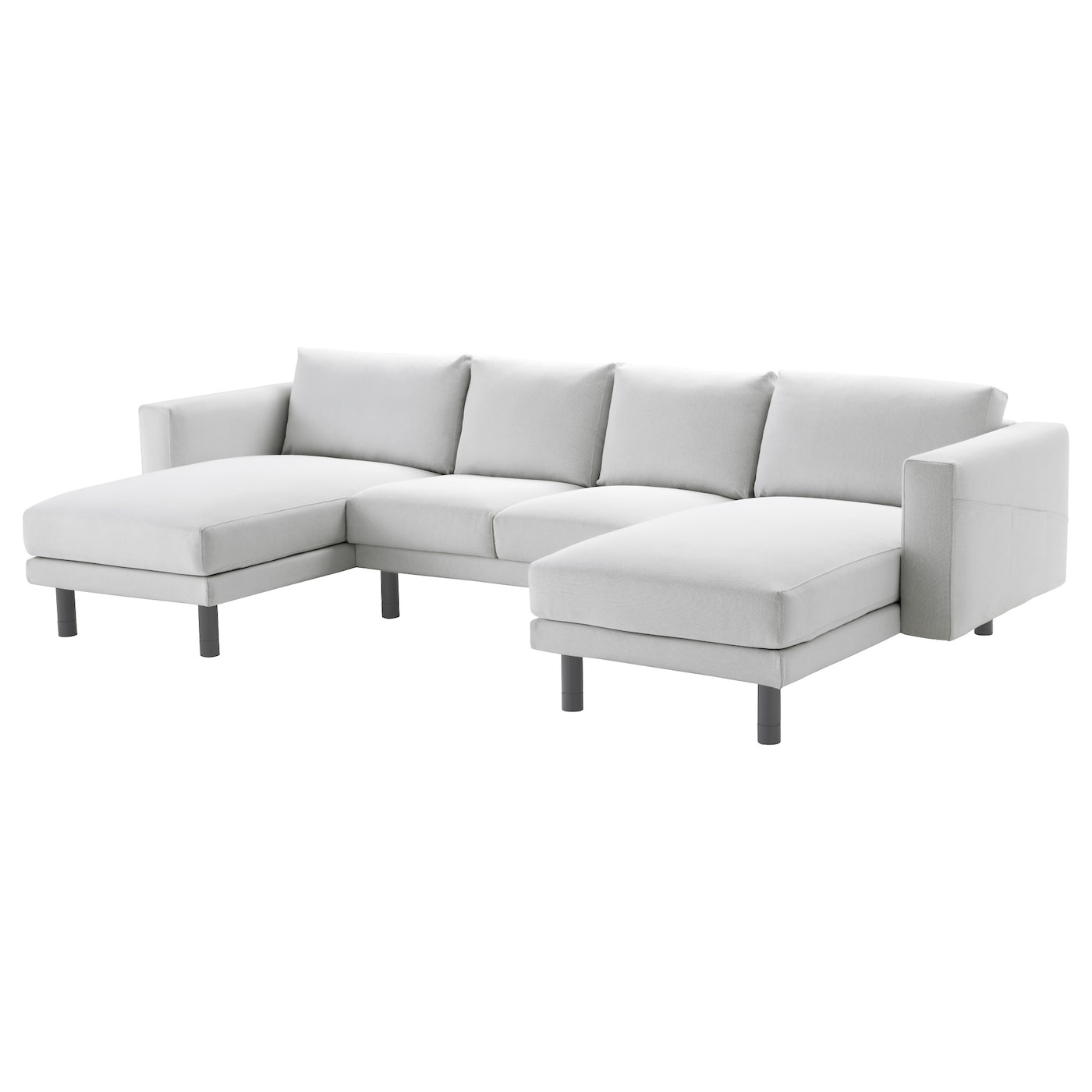 Norsborg 2 seat sofa with 2 chaise longues finnsta white for 2 seater chaise sofa