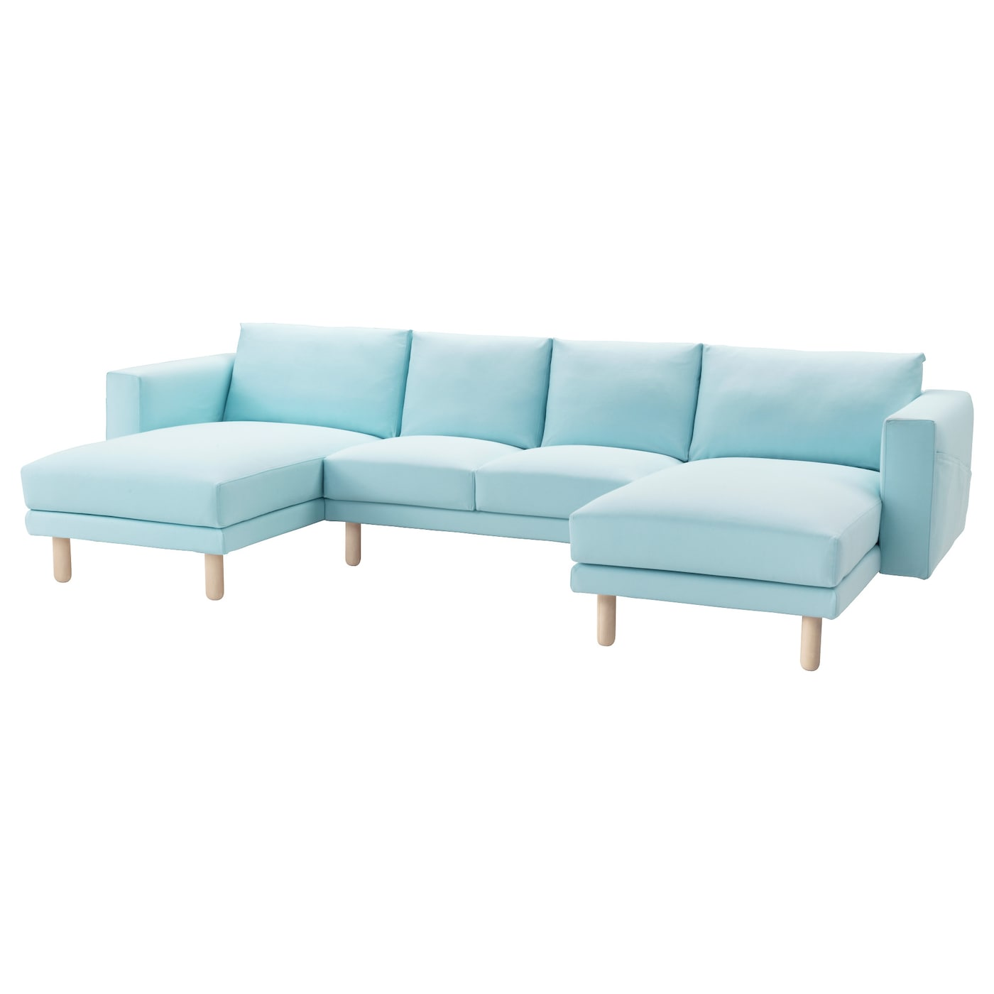 norsborg 2 seat sofa with 2 chaise longues gr sbo light blue birch ikea. Black Bedroom Furniture Sets. Home Design Ideas