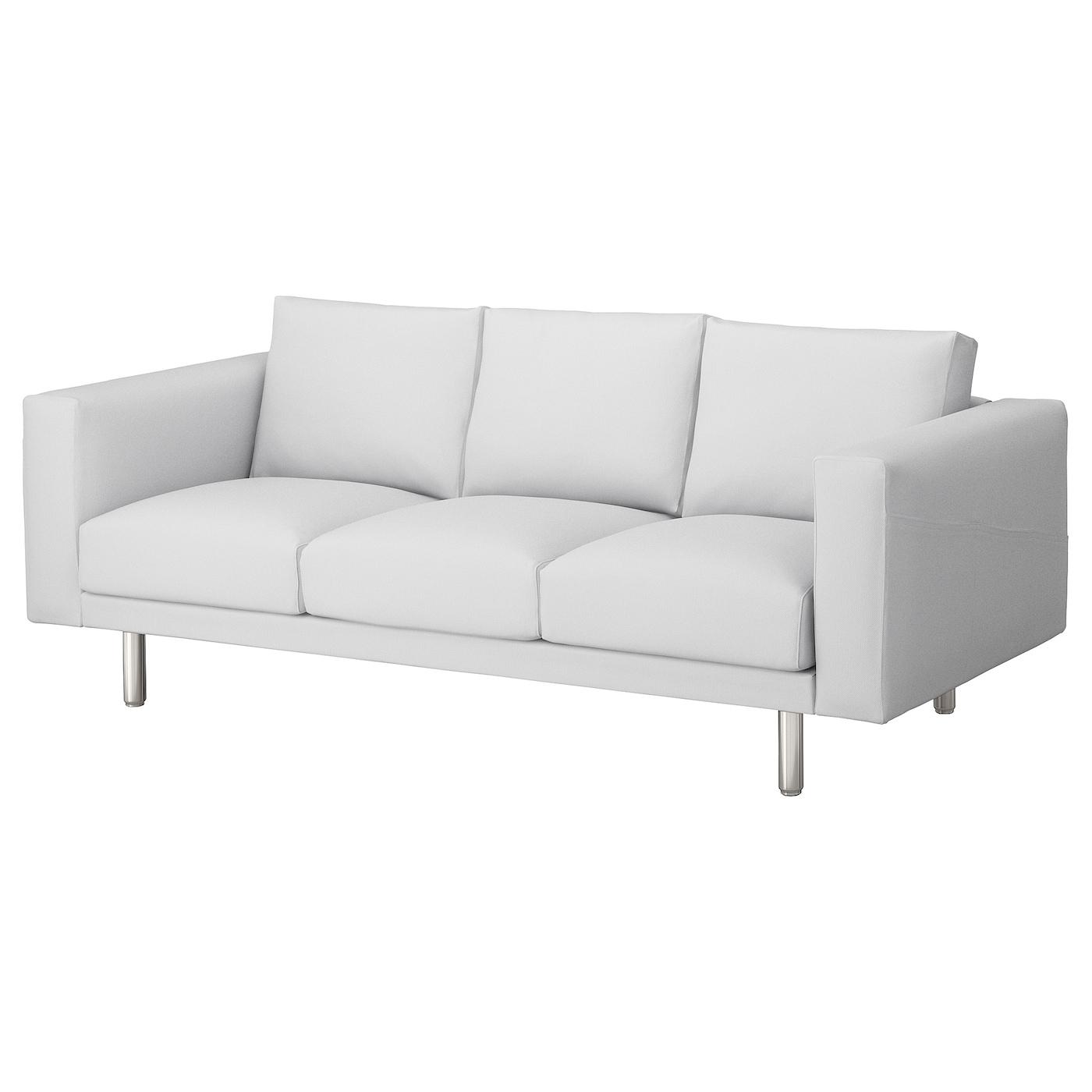 norsborg 3 seat sofa finnsta white metal ikea. Black Bedroom Furniture Sets. Home Design Ideas
